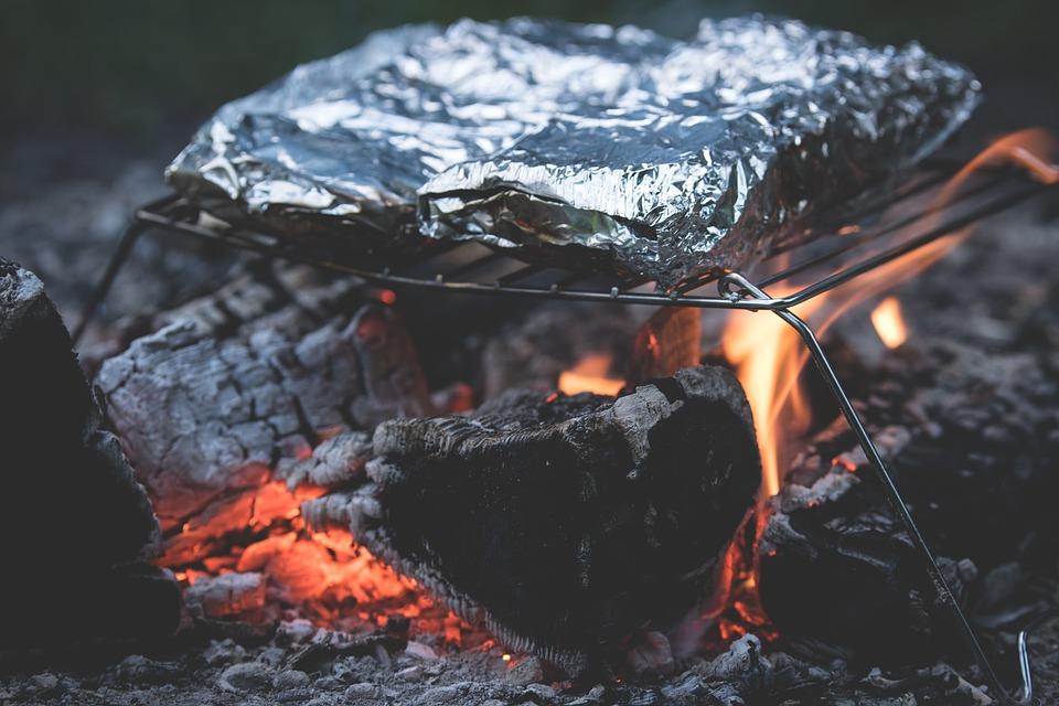 tin foil camping food