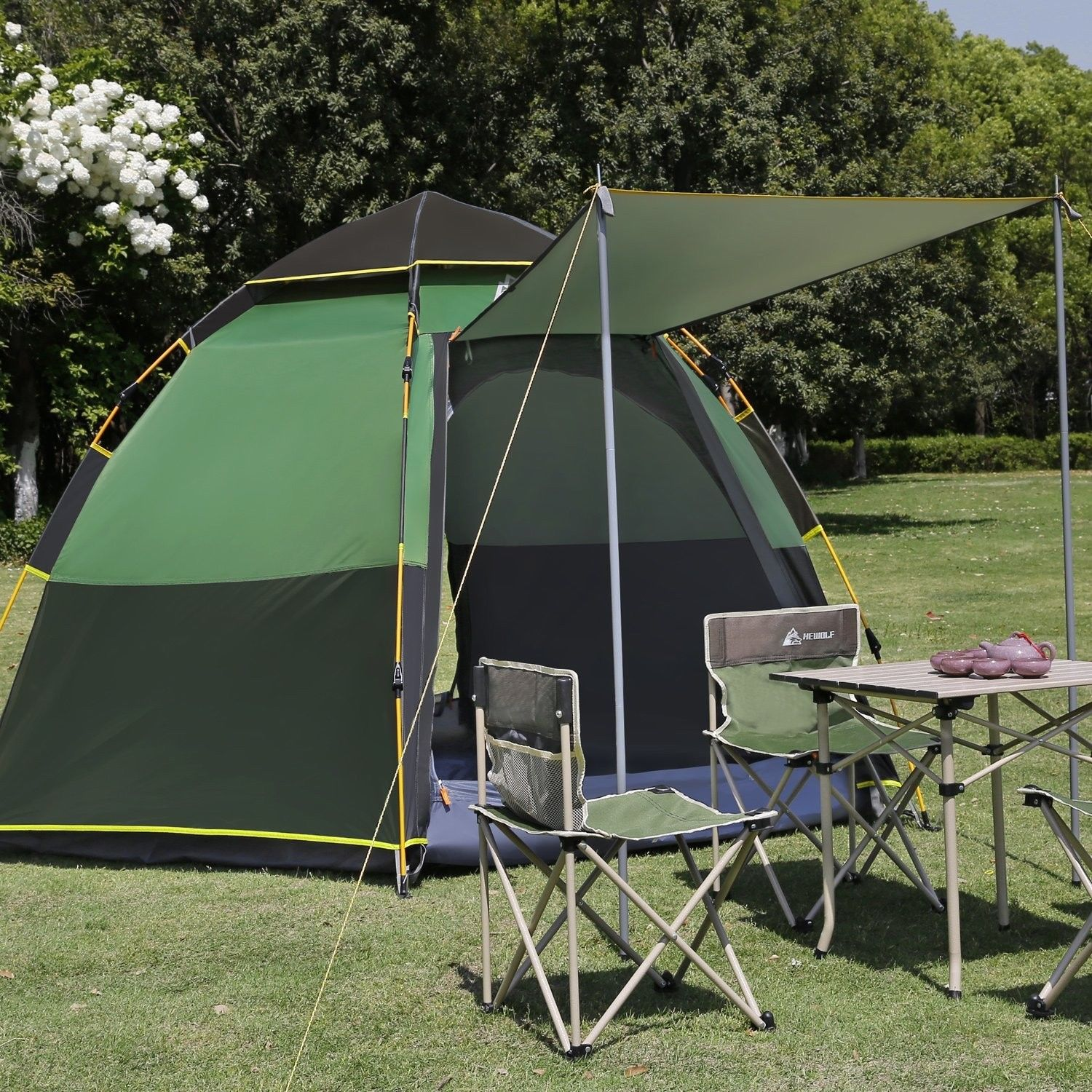 review of hewolf four person tent